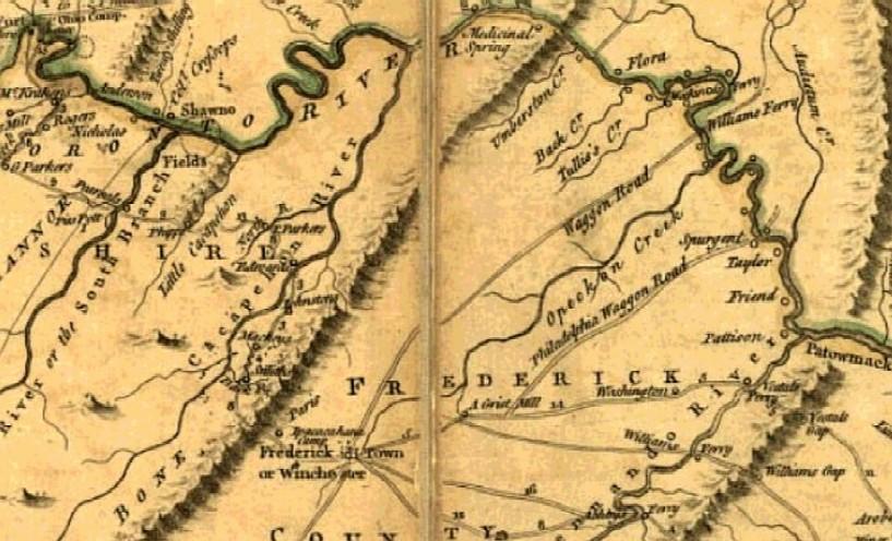 Map Of Virginia 1750.Part Three