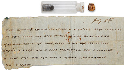 Message In Bottle To Lt General John C Pemberton