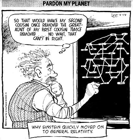 einstein cartoon